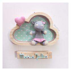Hipopótama - Nuvem Média - Porta Maternidade