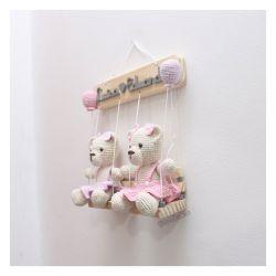 Ursinhas no Balanço - Gêmeas - Porta de Maternidade