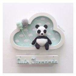 Urso Panda - Nuvem Branca - Porta Maternidade