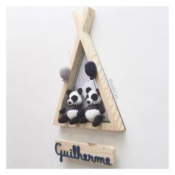 Cabaninha Pandas - Gêmeos - Porta Maternidade