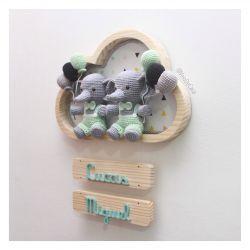 Elefantes Gêmeos - Nuvem Grande - Porta Maternidade