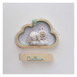 Ovelha Dormindo - Nuvem P - Porta Maternidade