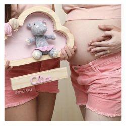 Hipopótama - Nuvem Média Porta Maternidade