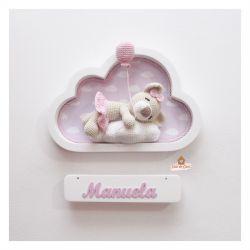 Ursinha Dormindo - Nuvem Branca - Porta Maternidade