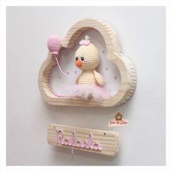 Pintinha Bailarina - Nuvem P - Porta Maternidade