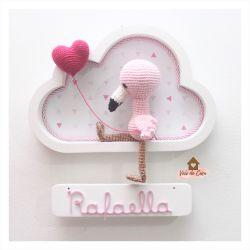Flamingo - Nuvem Branca - Porta Maternidade