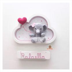 Elefantinha Bailarina - Nuvem Branca - Porta Maternidade