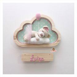 Ursinha Bailarina Dormindo - Nuvem Média - Porta Maternidade
