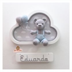 Ursinho - Nuvem Branca - Porta Maternidade
