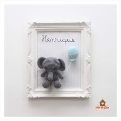 Quadro Elefantinho - Porta de Maternidade