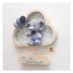 Elefantinho - Nuvem Média - Porta Maternidade