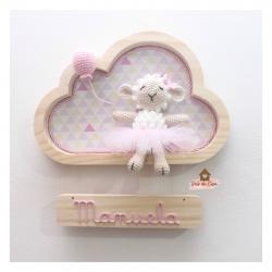 Ovelha Bailarina - Nuvem P - Porta Maternidade