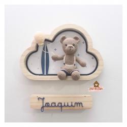 Ursinho Surfista - Nuvem P - Porta Maternidade