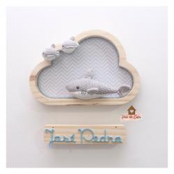 Tubarão - Nuvem P - 2 Peixinhos - Porta Maternidade