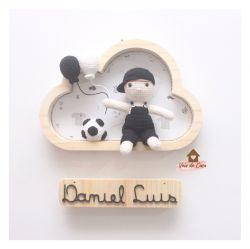 Menino - Futebol - Nuvem P - Porta Maternidade