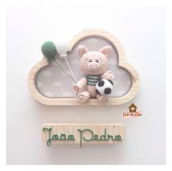 Porquinho - Futebol - Nuvem P - Porta Maternidade