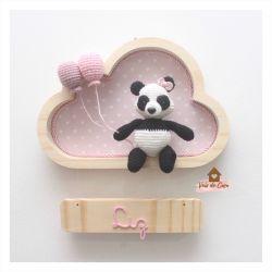 Panda - Menina - Nuvem P - Porta Maternidade