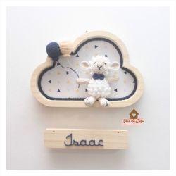 Ovelha - Menino - Nuvem P - Porta Maternidade