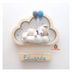 Ursinho Dormindo - Nuvem Média - Porta Maternidade