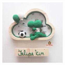 Dinossauro - Futebol - Nuvem P - Porta Maternidade