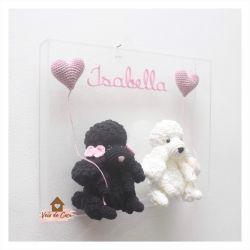 Cachorrinhos - Quadro Acrílico - Porta Maternidade