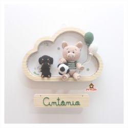 Porquinho - Cachorrinho e Bola - Nuvem M - Porta de Maternidade