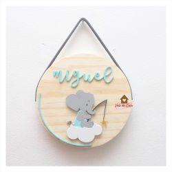 Elefantinho - Círculo - Porta de Maternidade