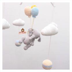 Móbile Elefantinho  - Balões