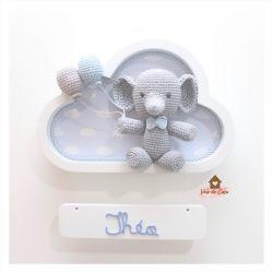 Elefantinho - Nuvem Branca - Porta Maternidade