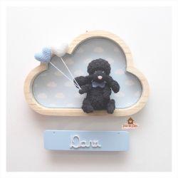 Cachorrinho - Nuvem M - Placa Colorida - Porta Maternidade