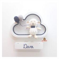 Ovelha - Nuvem Branca - Porta Maternidade