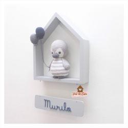 Pinguim - Casinha Colorida - Porta Maternidade