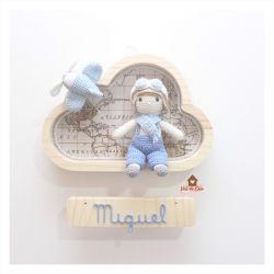 Menino Aviador - Nuvem P - Porta de Maternidade
