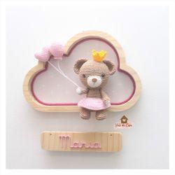 Ursinha Princesa - Nuvem M - Porta Maternidade