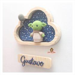 Baby Yoda - Nuvem P - Porta Maternidade