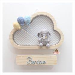Elefantinho - 3 balões - Nuvem P - Porta Maternidade