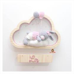 Coelhinha Dormindo - Nuvem M - Porta Maternidade
