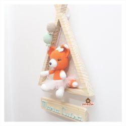 Raposa Bailarina - 2 balões - Cabana - Porta Maternidade