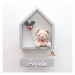 Urso - Balão Mickey - Casa Colorida - Porta Maternidade