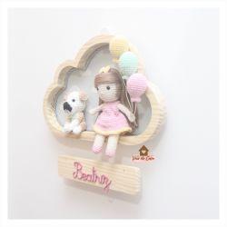 Boneca com Pet - 3 balões - Nuvem M - Porta Maternidade