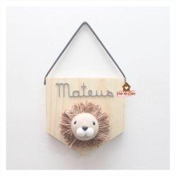 Leão - Flâmula - Porta de Maternidade