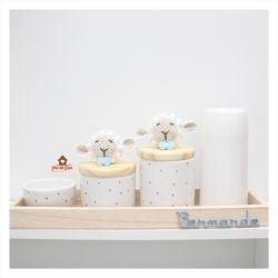 Kit Higiene Poá - 5 peças - Ovelha
