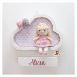 Boneca - Cabelo Liso - Nuvem P Branca - Porta Maternidade