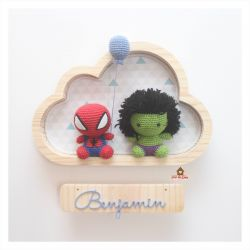 Super Heróis - Nuvem M - Porta Maternidade
