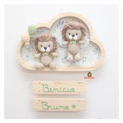 Leões Gêmeos - Nuvem G - Porta Maternidade