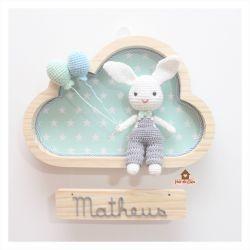 Coelhinho - 2 balões  - Nuvem M - Porta Maternidade