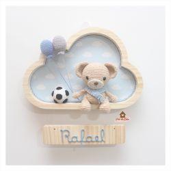 Ursinho - Futebol -  Nuvem M - Porta Maternidade