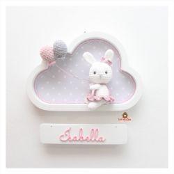 Coelhinha - Nuvem Branca - Porta Maternidade