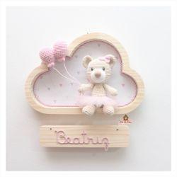 Ursinha Bailarina - 2 balões - Nuvem P - Porta Maternidade