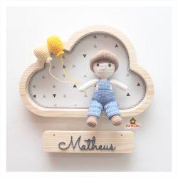 Menino Fazendeiro - Nuvem M - Porta Maternidade